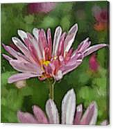Mum Is In The Pink Digital Painting Canvas Print