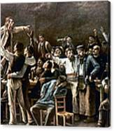Munkacsy: Strike, 1895 Canvas Print