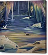Mural Death In Autumn Canvas Print