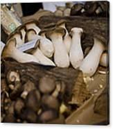 Mushrooms At The Market Canvas Print
