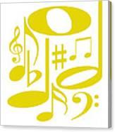 Musical Yellow Canvas Print