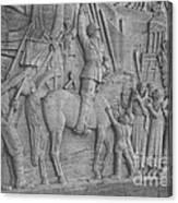 Mussolini, Haut-relief Canvas Print