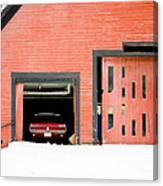 Mustang Car Barn Canvas Print