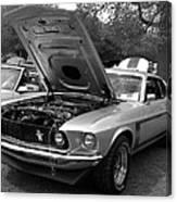 Mustang Chrome Canvas Print