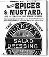 Mustard Ad, 1889 Canvas Print