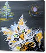 My Calico Cat Wizard Canvas Print