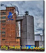 My City Smells Like Cheerios Canvas Print