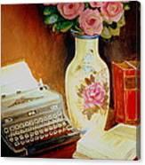 My Classic Royal Typewriter Memories Of Hemingway   Canvas Print