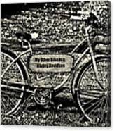 My Other Bike Is A Harley Davidson In Sepia Canvas Print