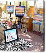 My Studio And Paintings Canvas Print