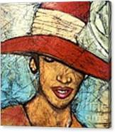 My Sunday Hat Canvas Print