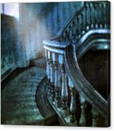 Mysterious Stairway In Old Mansion Canvas Print