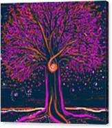 Mystic Spiral Tree 1 Pink By Jrr Canvas Print