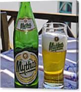 Mythos Beer Canvas Print