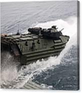 N Amphibious Assault Vehicle Departs Canvas Print