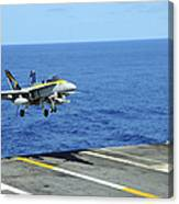 N Fa-18c Hornet Lands Aboard Canvas Print