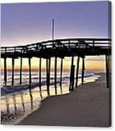 Nags Head Fishing Pier At Sunrise - Outer Banks Scenic Photography Canvas Print