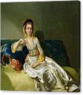 Nancy Parsons In Turkish Dress Canvas Print