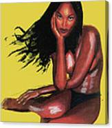 Naomi Campbell Canvas Print