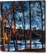Napanee River At Dawn Canvas Print