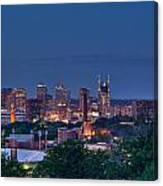 Nashville Cityscape 7 Canvas Print