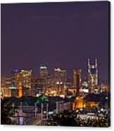 Nashville Cityscape 9 Canvas Print