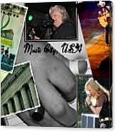 Nashville Postcard Canvas Print