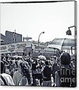 Nathan's Crowd In Coney Island 1 Canvas Print