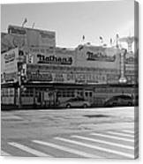 Nathan's Original In Black And White Canvas Print