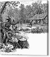 Native American Attack, C1640 Canvas Print