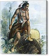 Native American Hunter Canvas Print