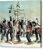 Native American Indian Snow-shoe Dance Canvas Print
