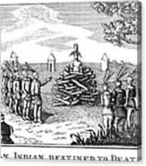 Native American Punishment Canvas Print