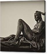 Native American Statue - Eakins Oval Philadelphia Canvas Print