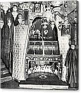 Nativity Grotto In 18th Century Canvas Print