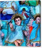 Nativity Scene Figures Canvas Print