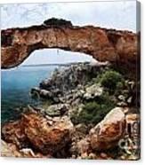 Natural Bridge - Cape Gkreko - Cyprus Canvas Print