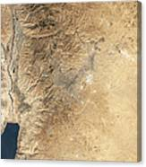 Natural-color Satellite View Of Amman Canvas Print
