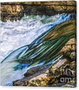 Natural Spring Waterfall Big River Canvas Print