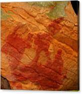 Nature's Palette In Stone Canvas Print
