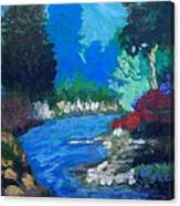 Natures Red White And Blue Canvas Print