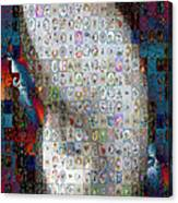 Nautilus Shell Mosaic Canvas Print