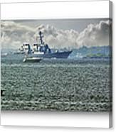 Naval Ship Canvas Print