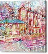 Navigli City Of Milan In Italy Portrait.1 Canvas Print