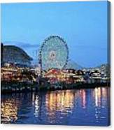 Navy Pier Chicago Digital Art Canvas Print