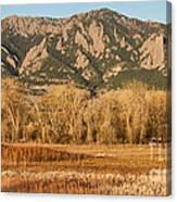 Ncar And Flatiron View Boulder Colorado   Canvas Print