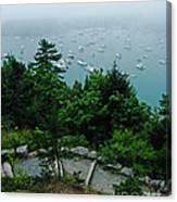 Ne Harbor Maine Seen From Thuya Gardens Mt Desert Island  Canvas Print