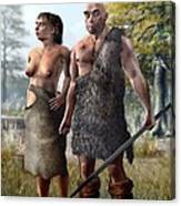 Neanderthals, Artwork Canvas Print