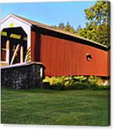 Neff's Mill Covered Bridge In Lancaster County Pa. Canvas Print
