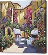 Neighborhood Cafe Canvas Print